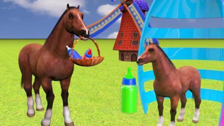 趣味益智动画片 七彩小马喝饮料