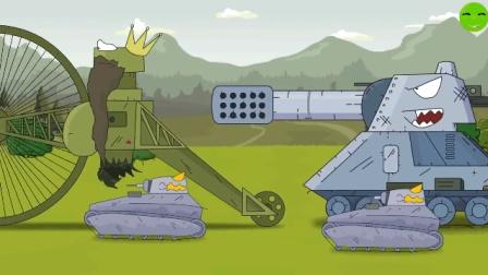 坦克世界欢乐动漫: 什么让沙皇坦克当了俘虏? 带德系潜伏苏系总部