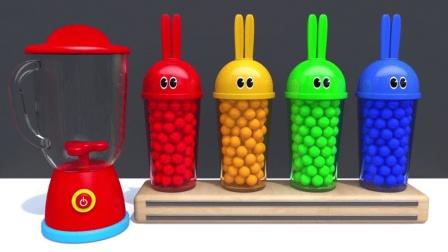 猴宝宝学颜色,各种色彩的小球、汽车还有足球,真漂亮