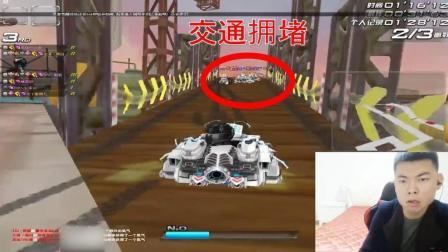 QQ飞车: 车王严斌遇拥堵路口, 堵到未完成!