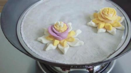 逢年过节必备的面食, 双层莲花馒头做法, 好看好吃又有好寓意