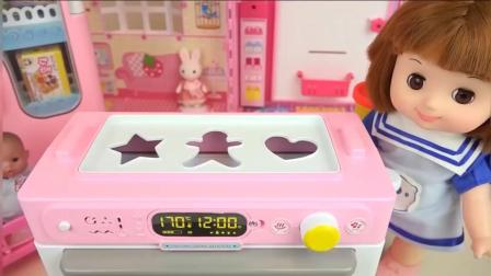 小宝宝自己动手做饼干 彩泥diy 美味无法挡