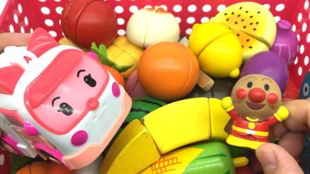 救护车安巴和面包超人玩转水果切切看