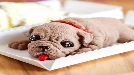 网红蛋糕慕斯沙皮狗, 教你五步在家做出可爱好吃的网红蛋糕