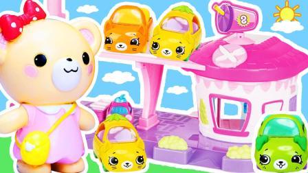 面包超人饮料机购物精灵萌萌停车场惊喜玩具