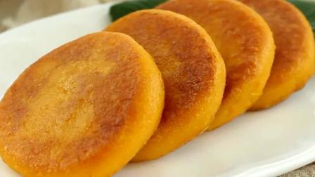 一碗糯米粉, 半个南瓜, 教你自制南瓜饼, 比油条更松软可口!