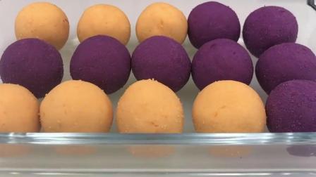 1个红薯和1个紫薯, 这样做不塌陷, 不开裂, 炸一大锅不够吃