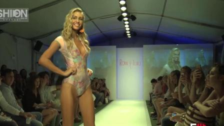 ROBB LULU 迈阿密泳装秀 妩媚动人的模特 秀出连体泳衣的性感动人