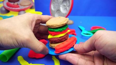 培乐多彩泥汉堡制作机过家家玩具