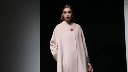 2018冬装新款优雅名媛范毛呢大衣女宽松撞色拼接中长款呢子外套
