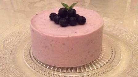 奥利奥做的美食 蓝莓慕斯蛋糕