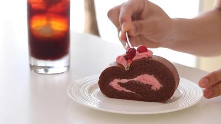 巧克力草莓蛋糕卷, 教你简单制作, 快做给女儿一个当惊喜吧