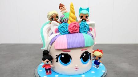试问谁能抗拒得了这个可爱的独角兽! 偷偷的告诉你这是翻糖蛋糕哦