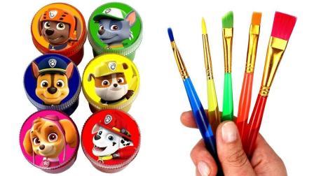 奇妙! 教你1分钟画汪汪队阿奇标志简笔画, 儿童英语色彩画画早教启蒙玩具