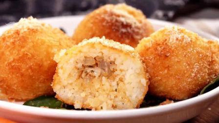 网红小吃: 美食达人教您制作芝士泡菜炸饭团