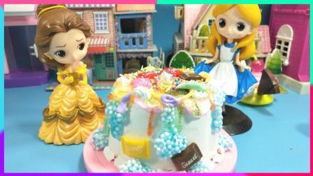 灵犀小乐园之美食小能手 灰姑娘蛋糕屋制作奶油蛋糕