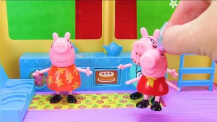 小猪佩奇亲自下厨做美味吃的儿童益智故事