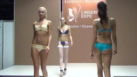 ON LINGERIE EXPO莫斯科比基尼秀 俄罗斯美女的冰雪机灵范儿展现的淋漓尽致