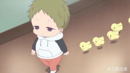 超萌动画短片: 小鸡出生第一眼看见的是虎太郎, 都把他当成鸡妈妈