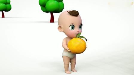 亲子早教动画 小正太捡了水果送给笼子里的小动物们吃, 趣味学颜色!