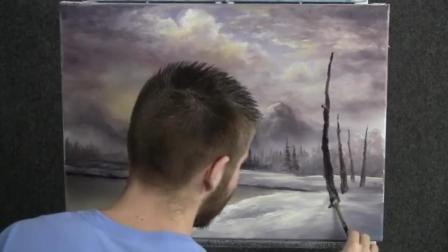 冬天看胡子哥画雪山美景真的是太享受了好想也来画一幅