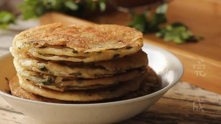 家常菜谱之千层葱花饼的做法, 外酥里喧的千层, 一顿五张都不够吃