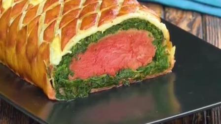 做菜小妙招, 不一样的烤牛排, 菠菜培根加上牛肉搭配有趣