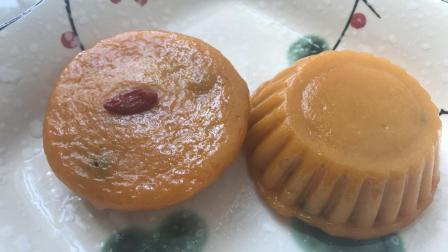 南瓜糯米红豆糕点, 淡淡南瓜清香, 淡淡甜味!