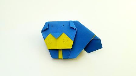 折纸王子折纸斗牛犬