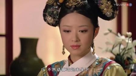 皇上宴请年羹尧,皇上还没动筷,年羹尧就先吃,华妃吓得急忙提醒