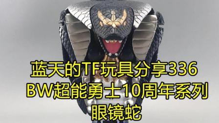 蓝天的TF玩具分享336—变形金刚BW超能勇士10周年系列眼镜蛇