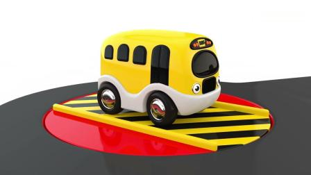 亲子早教动画 3D动画卡通玩具车停车场趣味学习颜色
