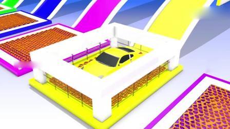 亲子早教动画 3D儿童玩具停车场魔法液变换颜色趣味学习