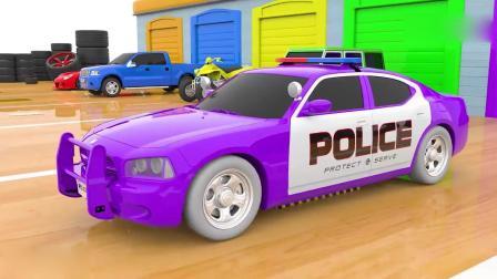 亲子早教动画 3D卡通汽车车轮学习颜色和形状 儿童玩具