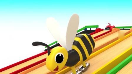 亲子早教动画 3D乐园彩色滑滑梯玩具趣味学习颜色数字