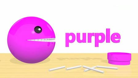 亲子早教动画 3D悠悠球棒棒糖认识颜色培养孩子趣味学习