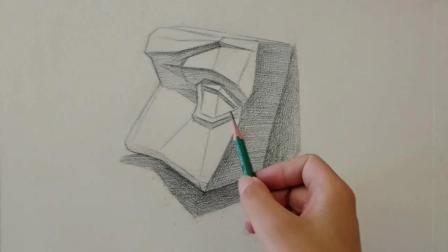 素描: 素描五官人物头像学习, 素描分步教学, 带你考试不丢分