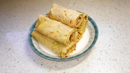 蔬菜和鸡蛋做的煎饼, 软糯可口, 做法简单一看就会, 适合给孩子当早餐