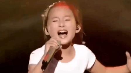 汪峰都不敢相信, 7岁女孩把他这首歌唱到极致, 高音太厉害了!