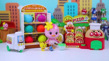 萌鸡小队朵朵披萨店开出彩泥奇趣蛋玩具