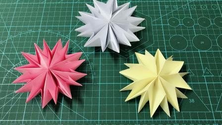 简单几步就能做出漂亮的立体折纸花朵, 手残党也能学会!