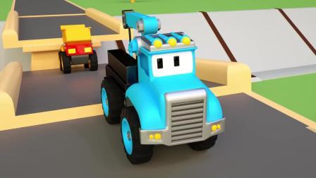 小汽车儿童动画英文儿歌幼儿教育系列《二》小吊车是好帮手