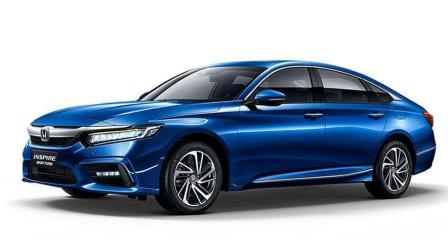 车现场雅阁同款 售价18282498万元 东风Honda全新旗舰轿车INSPIRE上市