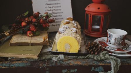 我的日常料理 第一季 超详细步骤教你制作秋季超流行的日式甜点-栗子酱奶油蛋糕卷