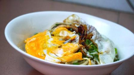早餐这样做金针菇鸡蛋面, 简单又美味, 香气扑鼻, 大人小孩都爱吃