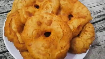 不加泡打粉, 教你做甘肃炸油饼, 焦黄酥脆, 入口绵软, 放凉也好吃