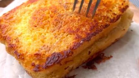 教你一种新的吐司吃法, 没有烤箱也能吃上外脆里软的奶酪烤三明治