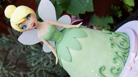 迪士尼最受欢迎的叮当小仙女, 原来是翻糖做的蛋糕, 真是太逼真了!