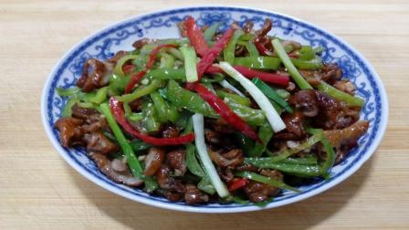 家常的青椒炒腊肠, 香辣爽口, 好吃又下饭