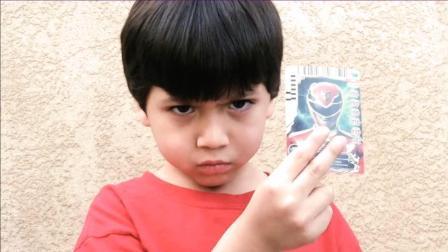 《恐龙战队》5岁小男孩真人特效变身动画!